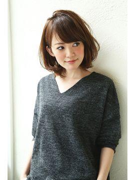 【Un ami】 2016 オトナかわいい・小顔ミディアム 松井 幸裕 - 24時間いつでもWEB予約OK!ヘアスタイル10万点以上掲載!お気に入りの髪型、人気のヘアスタイルを探すならKirei Style[キレイスタイル]で。