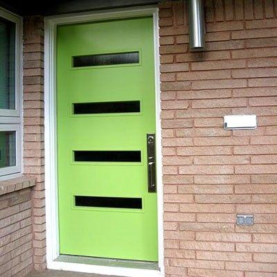 Mid-Century Modern front doors!