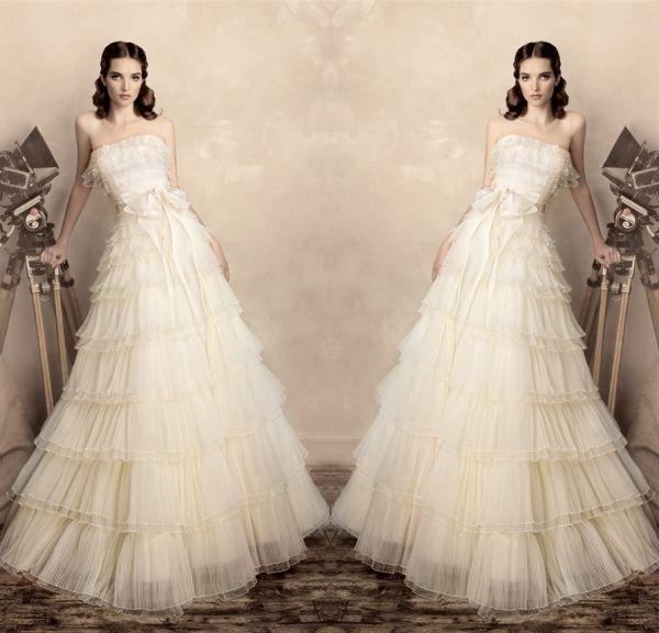2015 новинка без бретелек уровням с с бантом свадебные платья модест-line свадебное платье свадебные платья Noiva эм ренда