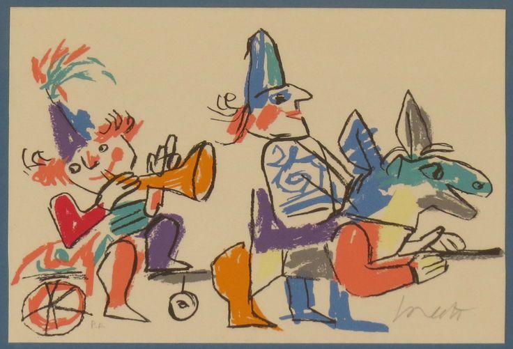 I Giochi dell' '88 (Gioco n.2) - (Emanuele Luzzati - Genova,1921 - 2007) http://www.museoluzzati.it/sito/emanuele-luzzati/emanuele-luzzati