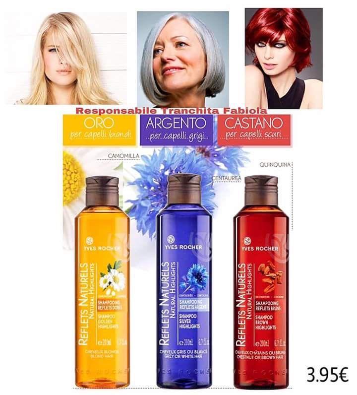 Capelli Biondi ? Grigi ? Scuri?   Ravviva il tuo colore!!!!  Shampoo 3.95€  Camomilla, Centaurea e Quinquina ✨