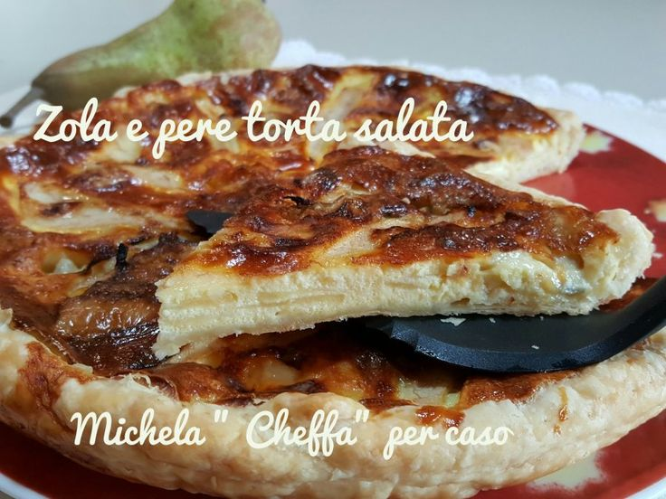 Zola+e+pere,+torta+salata