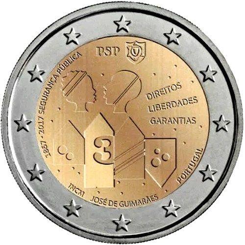 Moneda 2€ cc Portugal 2017 – 150 Años de Seguridad Pública