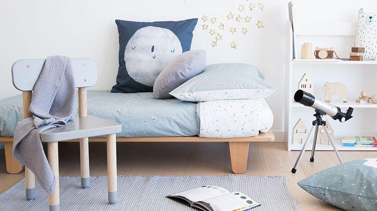 Lookbook Juego funda nórdica Cosmos Azul. Habitaciones infantiles divertidas. Kidsroom with nordic style. #duvetcover #fundanordica #bedlinen #kidsinspo #kidsroom