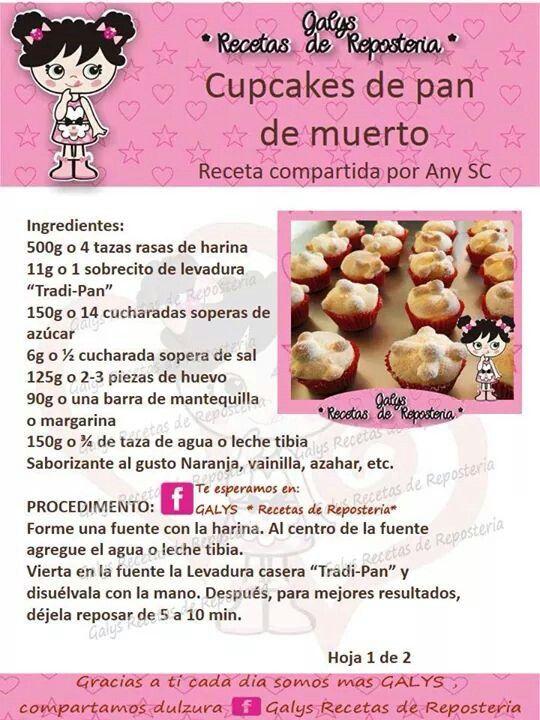 DIA DE LOS MUERTOS/DAY OF THE DEAD~Pan de muerto cupcakes