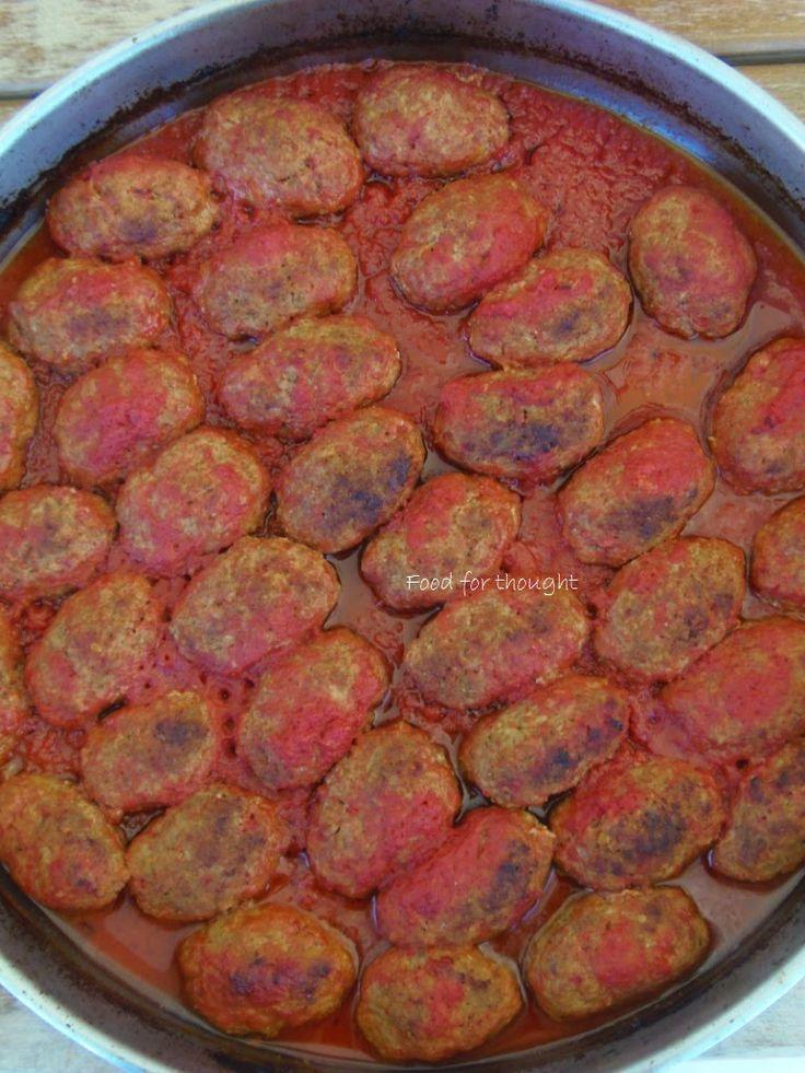 Food for thought: Σουτζουκάκια στο φούρνο
