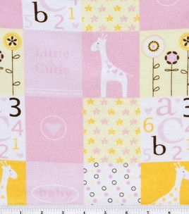 Baby girl patchwork at Joanns