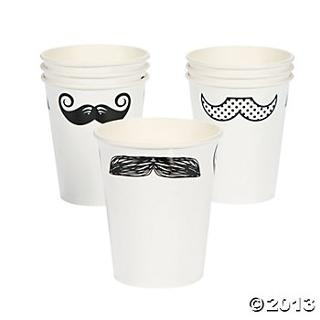 Moustache Party Cups, Party Cups, Tableware, Party Themes & Events - Oriental Trading