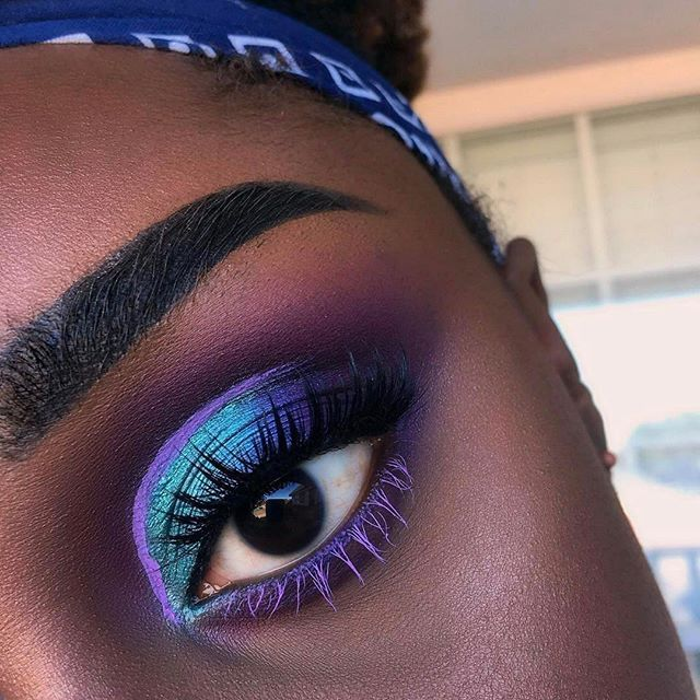 #Repost @ivykungu ・・・  . . . Key Products: @juviasplace Masquerade Palette @nyxcosmetics Vivid Brights Eyeliner in Vivid Halo @eylureofficial Lashes in Definition 126 @anastasiabeverlyhills @norvina Brow Pomade in Ebony