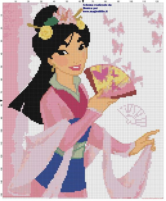 Mulan cross stitch pattern (click to view)