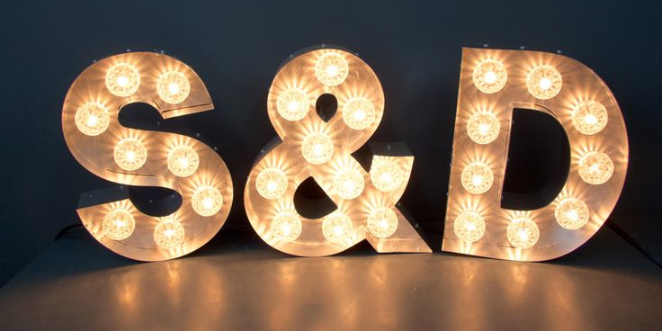 Marquee letters- S&P or LOVE or FUN or a B? Illuminated Signs, Light Up letters, Large Marquee Letters
