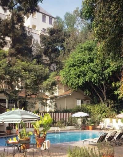 The Chateau Marmont Pool is one of the quietest pools in town - Los Angeles