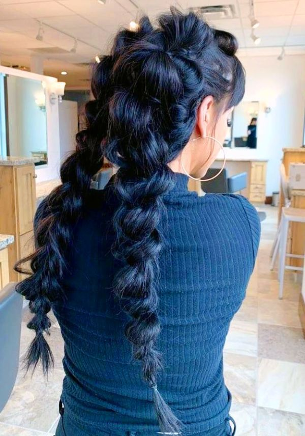 39 Bubble Braids Masterpieces For Braided Hairstyles Curly Craze In 2020 Hair Styles Braided Hairstyles Semi Formal Hairstyles