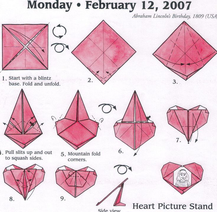heart picture stand origami pinterest picture stand