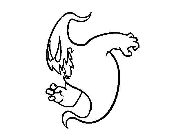 Dibujo de Un fantasma aterrador para Colorear