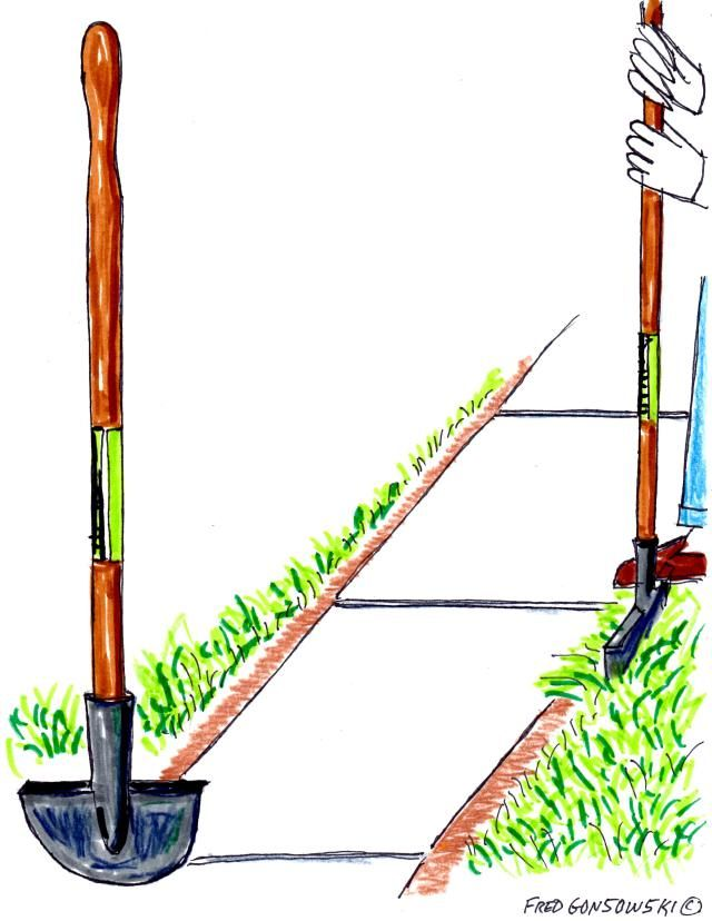 Eliminating unwanted grass from along sidewalks and driveways