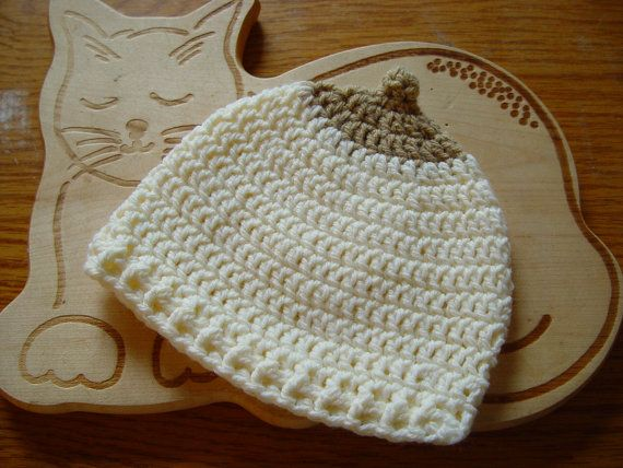 boobie hat. cream with light brown. by handyhooker on Etsy, €10.00