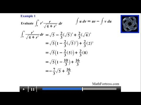 Calculus II: Integration By Parts (Level 6)