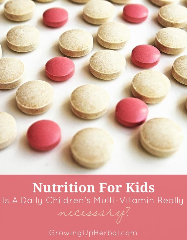 Is A Daily Children's Multi-Vitamin Really Necessary? | GrowingUpHerbal.com | Every wonder if your kids really need a daily vitamin?