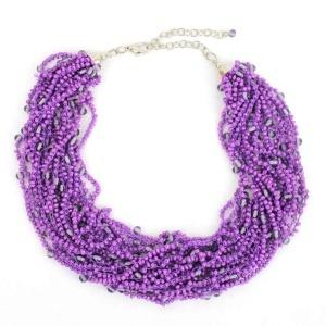 Purple collar necklace