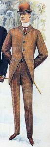 1897. Hombre con terno y bombín