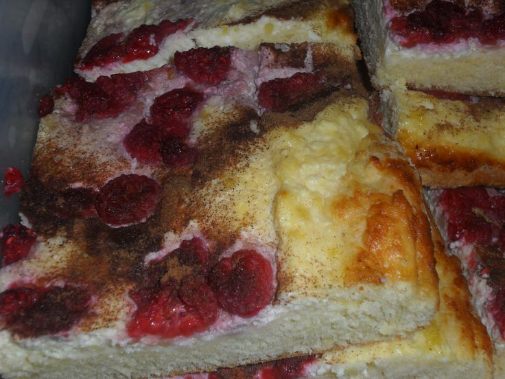 Málnás-túrós pite