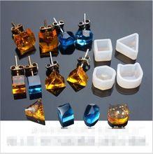 2 pz/lotto Multi Donne di Disegno Trasparente Del Silicone Stampo Per Fare Gioielli Orecchini FAI DA TE Stampo In Resina Colata stampi in resina per monili(China (Mainland))