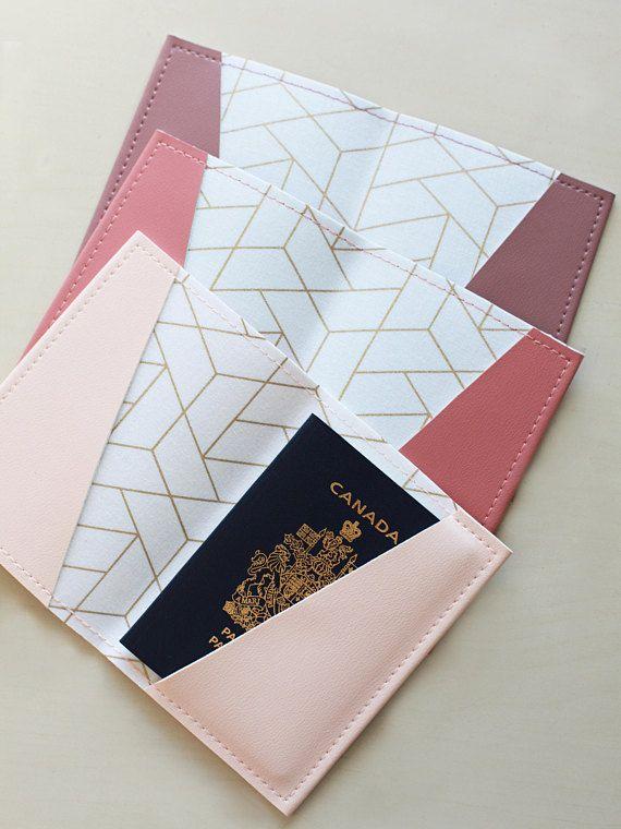 Gold tile passport holder passport case vinyl passport