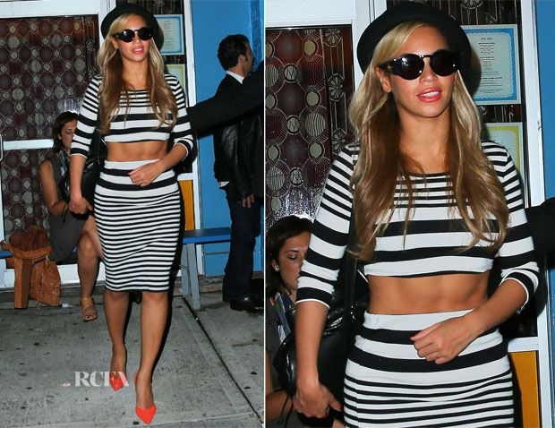 Beyonce Knowles In Topshop - Kanye West Birthday Party
