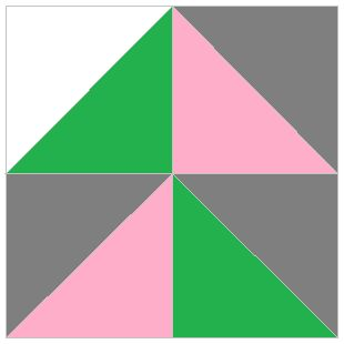 Math Spies: Quilt Square Code #5 -- students use the fraction of each color to solve a coded message.