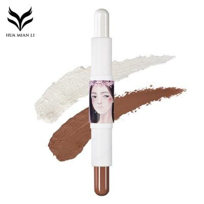 huamianli Double-ended Highlight Concealer Stick Cosmetics $3.02