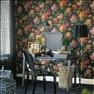 Tapet Rhododentron & lilies, Zoffany/Frank & cordinata. Skrivbord Senna, Habitat, stol Kartells Loui...