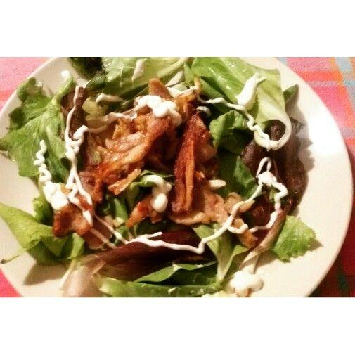 ¤Fresh salad ¤chicken ¤yogurt souce