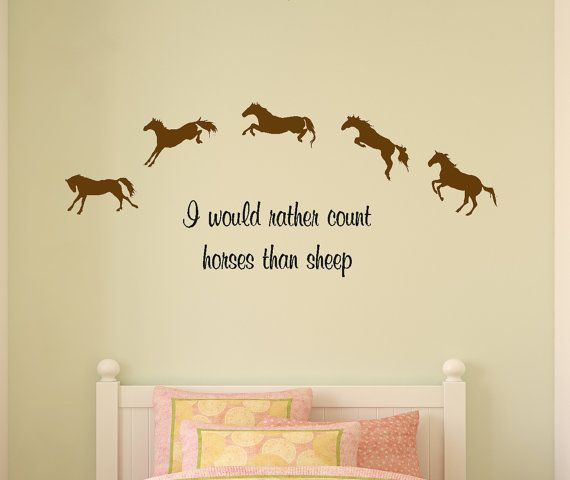 Horse decal-Horse quote-Childs room-Wall sticker-Girls bedroom decor-Nursery decor-18 X 48 inches