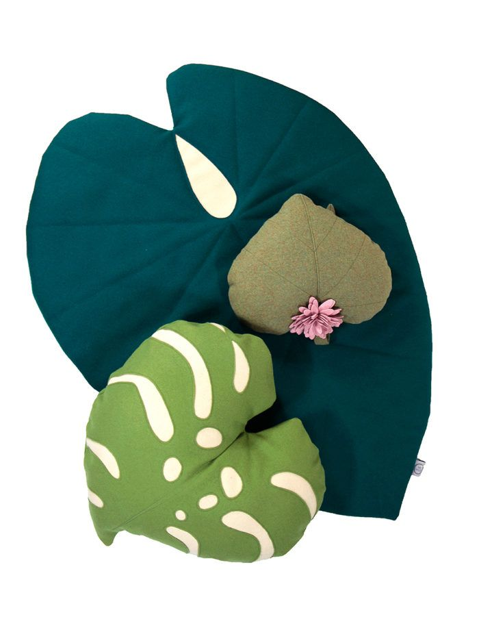 giant tropical leaf baby play mat that looks stylish in your living space @wawomb