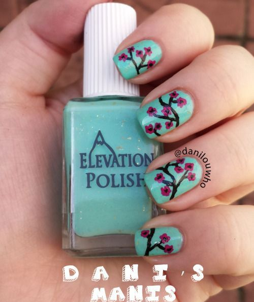 43 best cherry blooms spring nail art designs images on pinterest i didnt want to take it off to do the next day challenge hahaha solutioingenieria Image collections