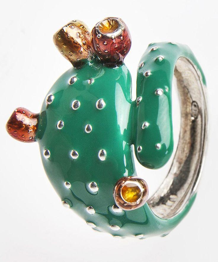 La Sicilia Store Anello Pala di Fico d'India argento. Farruggio Jewellery