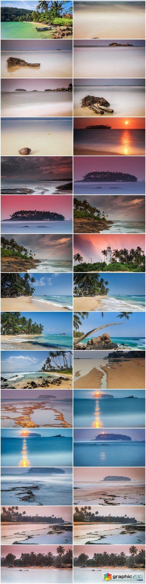Sri Lanka. Beruwela. Beach Moragalla  stock images