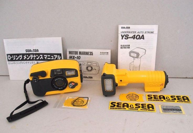 Sea And Sea MX10 Underwater 35mm Camera And Strobe Flash