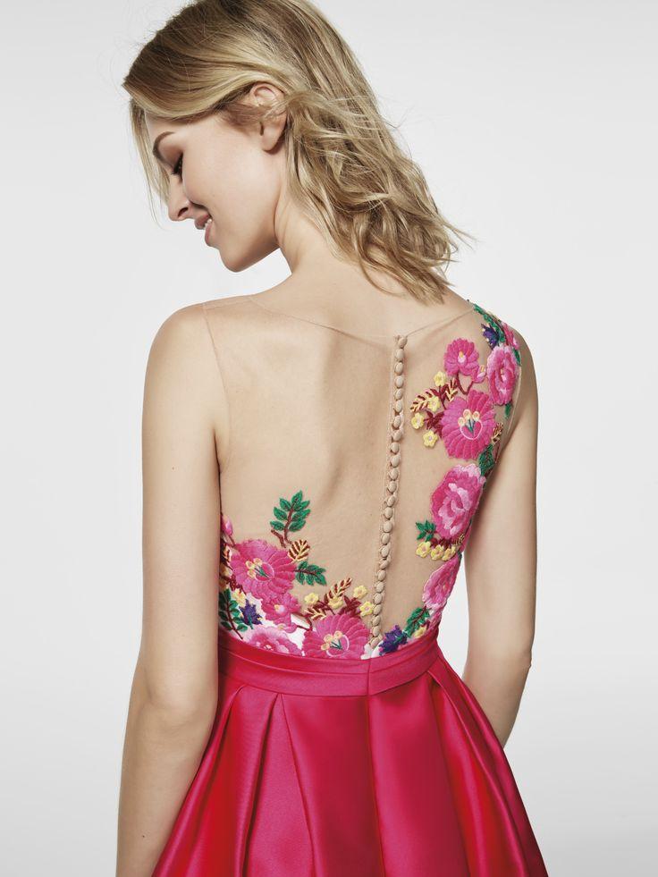 Imagen del vestido de fiesta rosa (62045). Vestido GLEDA corto sin mangas