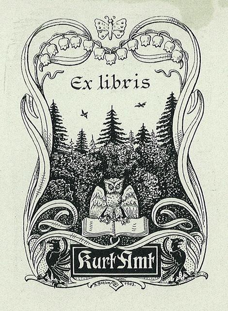 [Ex libris Kurt Amt] by Stifts- och landsbiblioteket i Skara, via Flickr