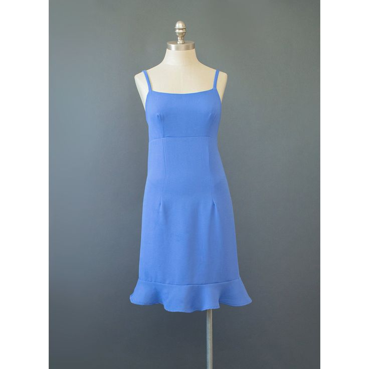 Periwinkle Dress - 90s Dress - Soft Grunge Crepe Slip Dress - Flounce Skirt Sun Dress - Blue Dress - Empire Waist Sundress - 1990s Dress (S) #vintage #etsy #dresses #1990s #sundress #sleeveless #blue #womens #blue #wear #fashion #style #chic #spring #summer #sundresses