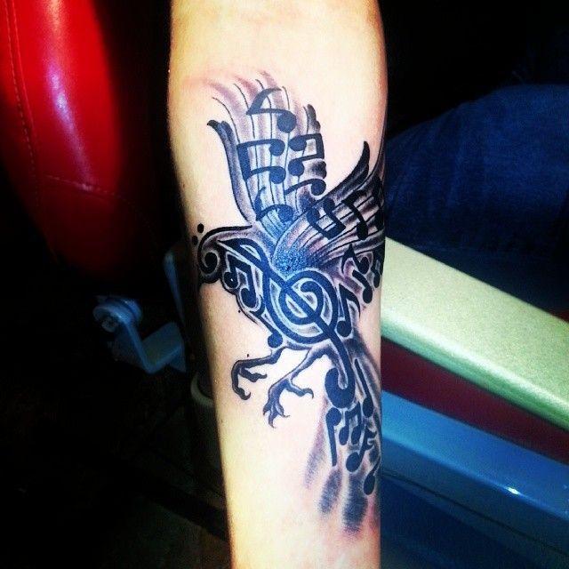 music bird tattoo - Google Search