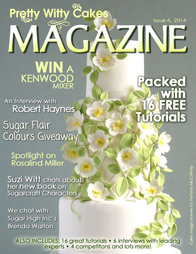 Issue 4 of the Pretty Witty Cakes Magazine is FREE and here to download - all 175 pages of free cake tutorials. https://www.prettywittycakes.co.uk/pretty-witty-cakes-magazine
