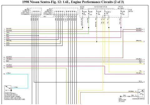 ECU Pinout del Nissan GA16DE, GA16DNE, Diagramas Eléctricos ... on