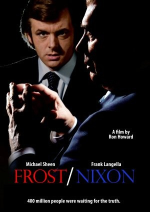 """""""Frost / Nixon"""" starring Frank Langella and Michael Sheen.  Directed by Ron Howard. 2008."""
