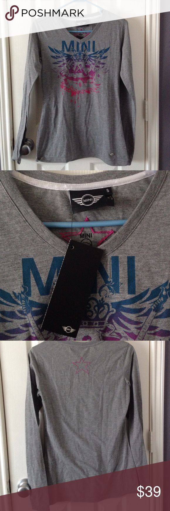 Mini Cooper Logo long sleeve shirt Grey long sleeve logo shirt from Mini. Size small and  perfect for any Mini Cooper fan! 🚗 Price is negotiable for serious buyers Tops Tees - Long Sleeve