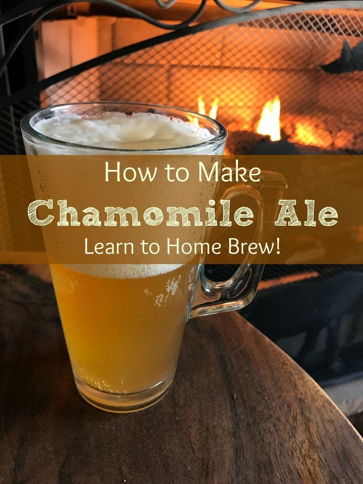 """Ales (beer) have been around for literally thousands of years, and most of  these ancient recipes called for using herbs. In this manner, they became  """"healing"""" in nature. Since they are also a fermented drink, they are good  for you in terms of gut health too. My Chamomile Ale was i #homebrewingrecipes"""