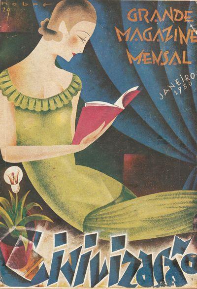 Vintage cover from Portuguese magazine Civilização