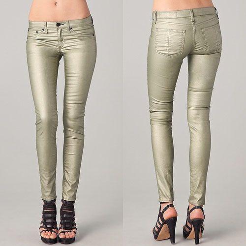 Rag & Bone metallic legging jeans